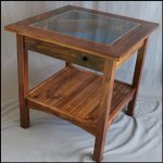 Walnut Military Display Table