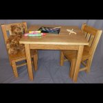 White Oak Child's Table & Chair