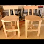 Two complete bar stool